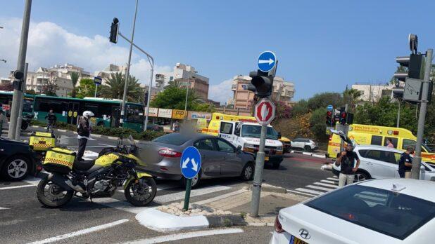 תאונת דרכים בדרך עכו בקריות | צילום: תיעוד מבצעי מד