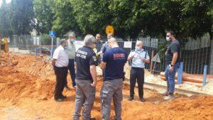 זירת התאונת עבודה הקטלנית בפרדס חנה   צילום: דוברות המשטרה